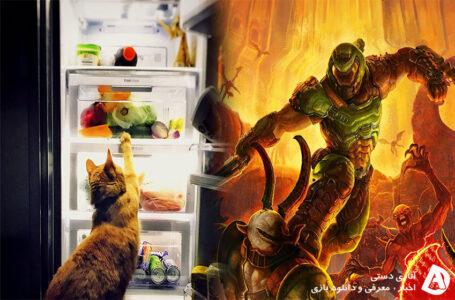بازی کردن Doom Eternal روی مانیتور یخچال