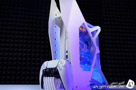 PS5 بسیار زیبا با طراحی جدید و خنک کننده مایع